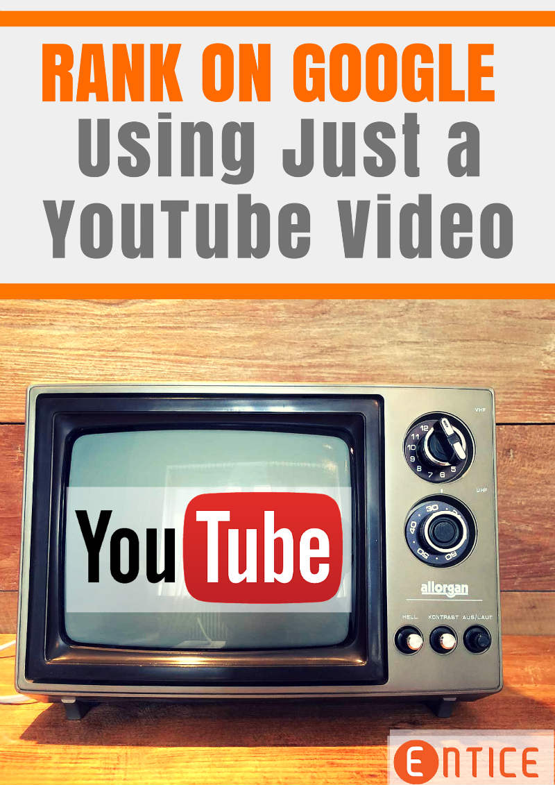 Can You Rank On Google With Just a Youtube Video?